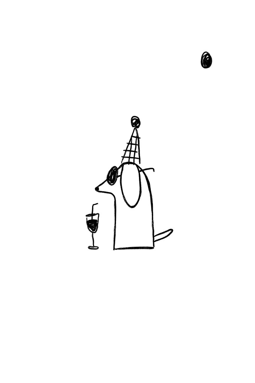 Postal perro con copa Celebra - Better by Letter