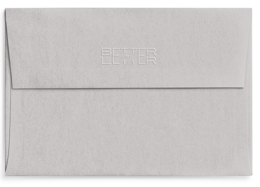 Reverso sobre Cool Grey Celebra - Better by Letter
