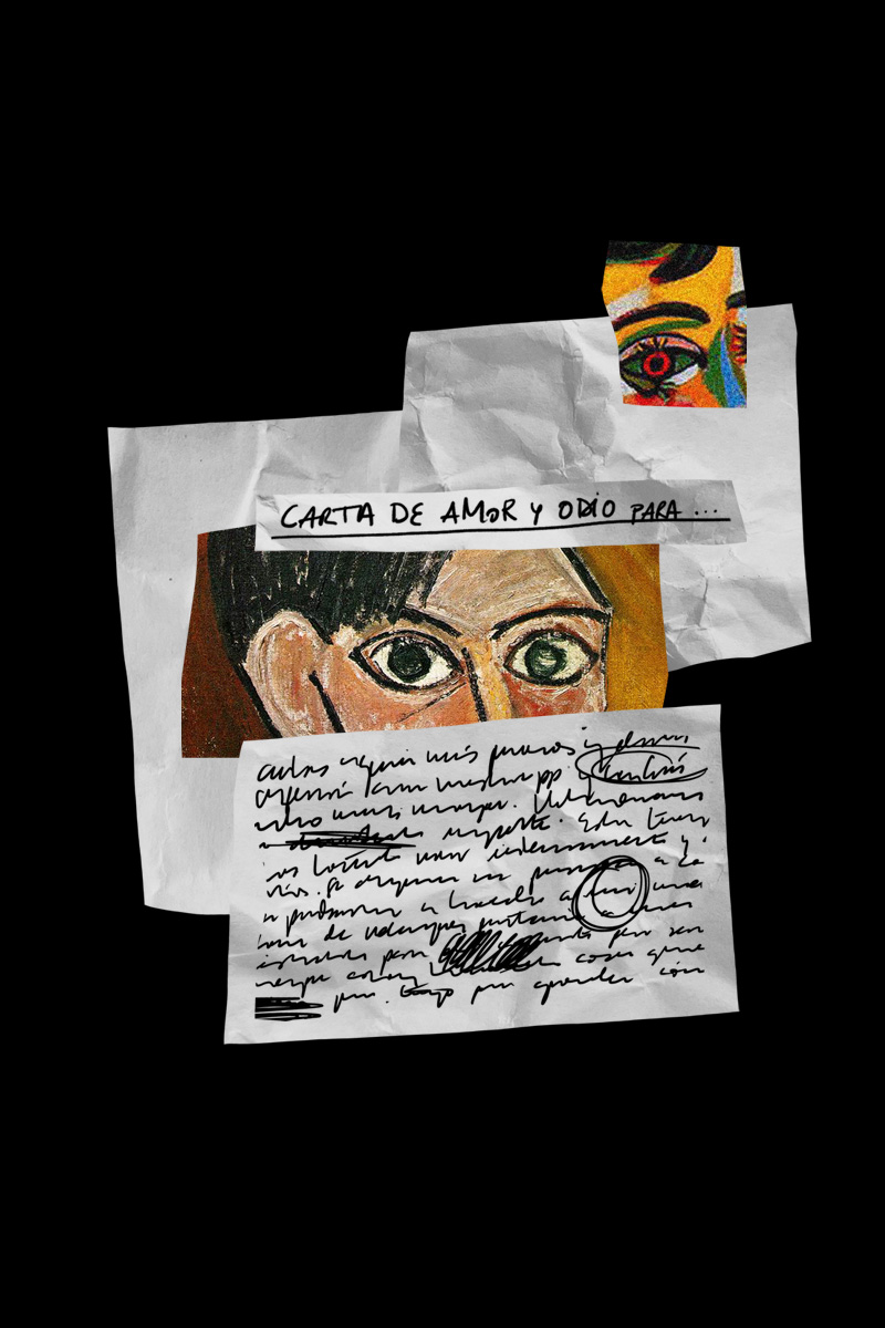 Collage ojos Picasso y carta - Better by Letter
